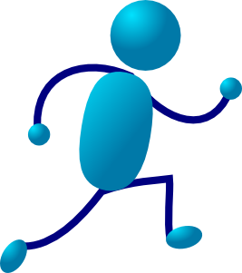 Running Stick Man Clip Art
