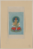 Religious Figure Sitting On A Lotus, Facing Front, With Blue/green Halo Behind His Head Image