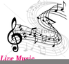 Music Staff And Notes Clipart Image