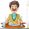 Senior Citizens Eating Clipart Image