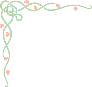 Vine With Pink Flowers Clip Art