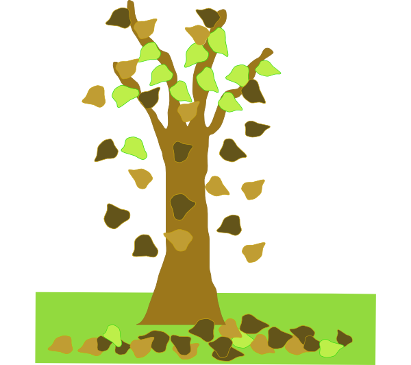 clip art of tree with falling leaves - photo #1