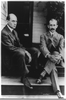 Wilbur Wright And Orville Wright Seated On Steps Of Rear Porch, 7 Hawthorne St., Dayton, Ohio Image