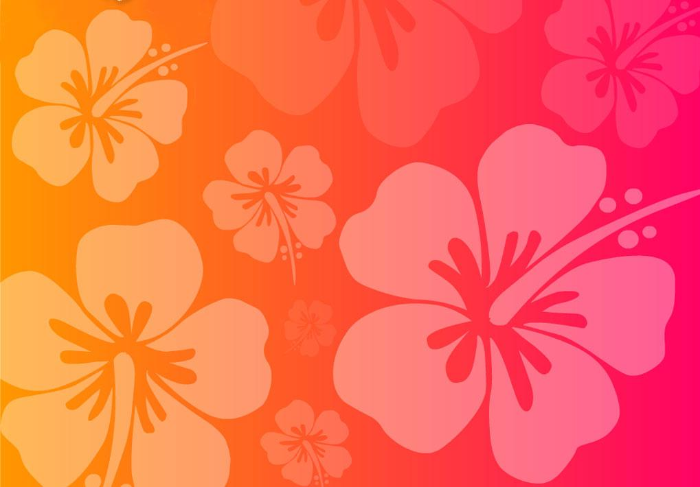 flower pink orange free images at clkercom vector