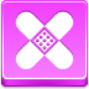 Free Pink Button Plaster Image