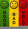 Good Bad Ugly Clipart Image