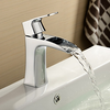 Centerset Solid Brass Chrome Finish Single Handle Bathroom Faucet-- Faucetsuperdeal.com Image