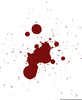 Blood Spray Clipart Image