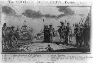 The Scotch Butchery, Boston, 1775 Image