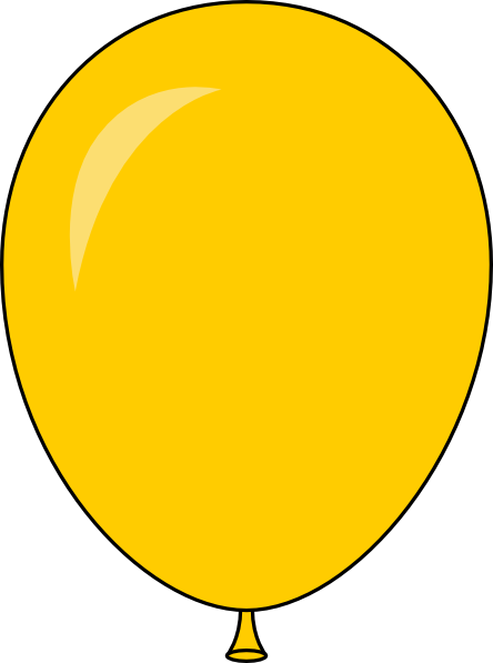 clipart yellow balloons - photo #8