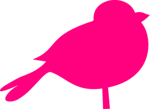 Pink sparrow clip art at clker com vector clip art online royalty