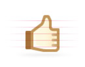 Blockie Thumb Up Image