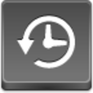 Free Grey Button Icons Time Machine Image