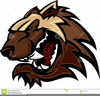 Wolverine Mascot Clipart Image