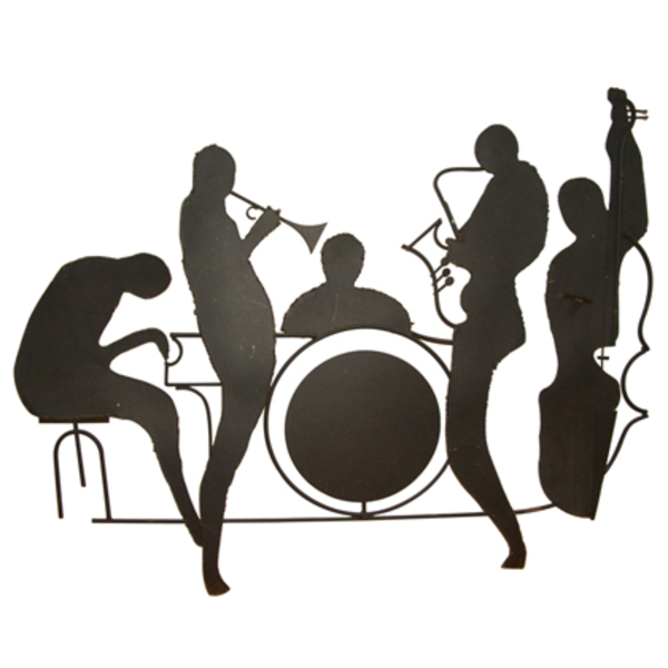 Silhouette Jazz Band Wall Sculpture Id | Free Images at ...