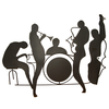 Silhouette Jazz Band Wall Sculpture Id Image