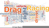 Free Drag Racing Clipart Image
