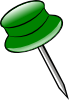 Green Pin Clip Art