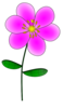Purple Flower 8 Clip Art