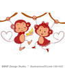 Royalty Free Monkeys Clipart Illustration Image