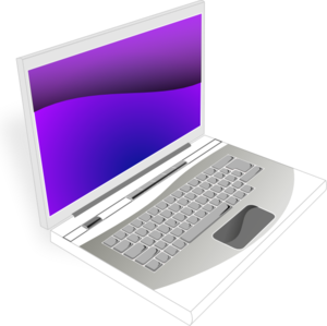 Laptop White Purple Image