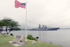 The Russian Federation Navy Udaloy Class Destroyer Marshal Shaposhnikov (ddg 543) Passes The Uss Nevada Memorial Image