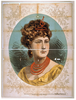 [bust View Of Woman Wearing Treble Clef Headpiece, Yellow Dress, And Red Necklace] Image