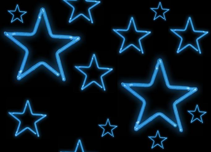Blue Green Neon Stars   Free Images at Clker.com - vector ...