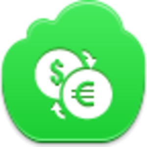 Free Green Cloud Conversion Of Currency Image