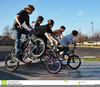 People Riding Bikes Clipart Image