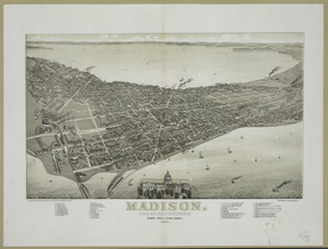 Madison, State Capital Of Wisconsin 1885 Image
