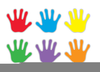 Childs Handprint Clipart Image