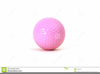 Pink Golf Ball Clipart Image