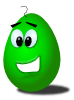 Green Comic Egg Clip Art