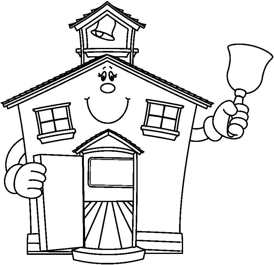 Schoolhouse bw image
