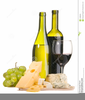 Free Wine Cheese Clipart Image