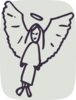 Sketched Angel Clip Art