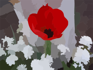 Blurred Flower Photo Clip Art