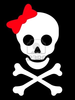 Skull With Red Bow Image