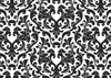 Damask Black And White Wallpaper Image
