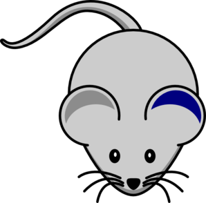 Blue Ear Mouse Clip Art