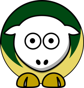 Sheep - Utah Valley Wolverines - Team Colors - College Football Clip Art