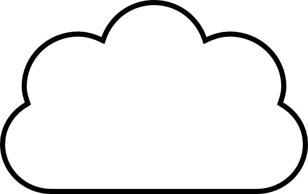 Line Drawing Clouds : Cloud clip art at clker vector online