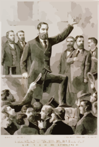 Charles Stuart Parnell, M.p. : President Of The Irish Land League - Addressing A Meeting Clip Art