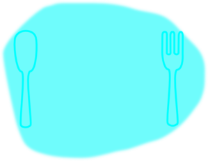 Blue On Blue Place Setting Clip Art