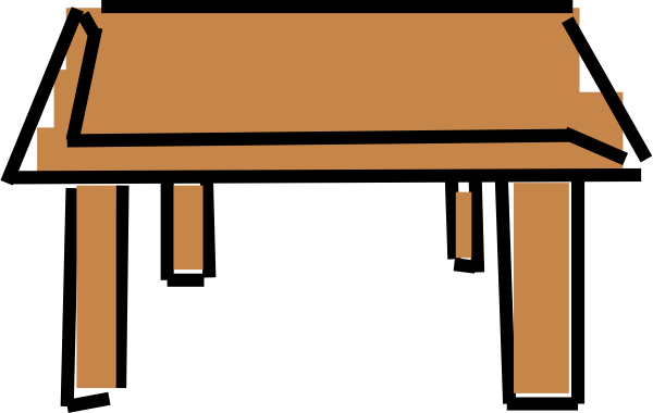 Cartoon student at desk for Set de table transparent