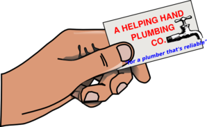 Helping Hand Plumbing Clip Art