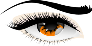 More Golden Eyes Clip Art