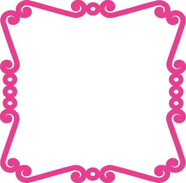 Scrolly Frame Pink Clip Art at Clker.com - vector clip art ...
