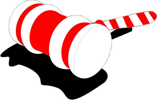 candy cane gavel clip art at clker com vector clip art online rh clker com